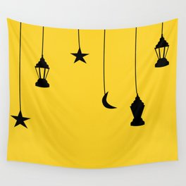 yellow falling star Wall Tapestry