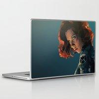 black widow Laptop & iPad Skins featuring Black Widow by Chelsea Lindsay