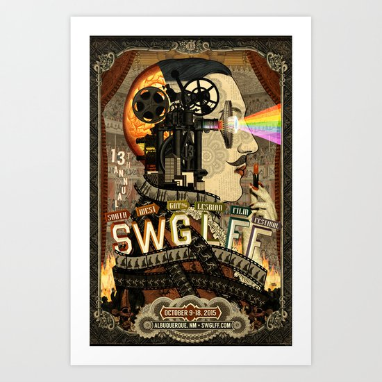 13th Annual Southwest Gay & Lesbian Film Festival Art Print