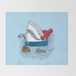 Great White North Shark Throw Blanket