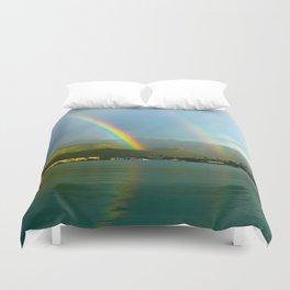 Hawaii Double Rainbow Duvet Cover