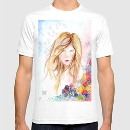 lady in bloom  T-shirt