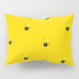 YELLOW  PANSY FLOWERS SPRINKLES GOLDEN YELLOW Pillow Sham