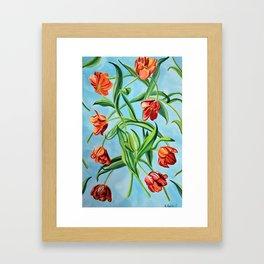 Happy Tulips Framed Art Print