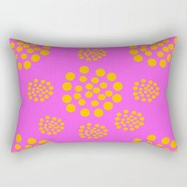 Fuchsia Orange Geometric Abstract Rectangular Pillow