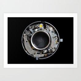 Vintage Mechanical Camera Sutter Mechanism Art Print