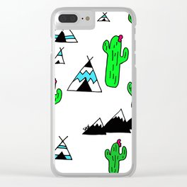 TeePee Party Clear iPhone Case