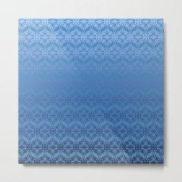Blue Weaves Pattern Metal Print