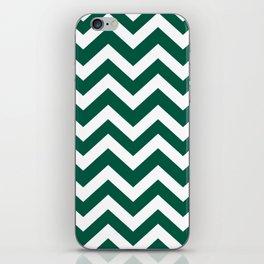 Castleton green - green color -  Zigzag Chevron Pattern iPhone Skin