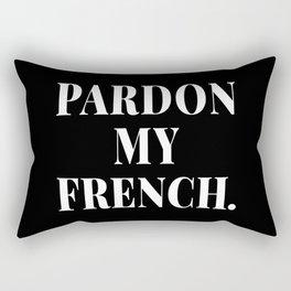 PARDON MY FRENCH (Black & White) Rectangular Pillow