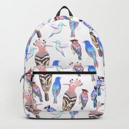 Birds watercolor in tetrad color scheme Backpack