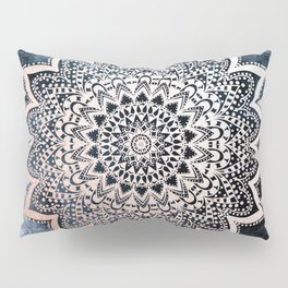 BLUE BOHO NIGHTS MANDALA Pillow Sham