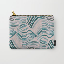 Trippy Turquoise Waves Carry-All Pouch