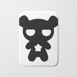 Cute Lazy Bear Black and White Bath Mat