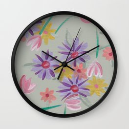Wallflowers Wall Clock