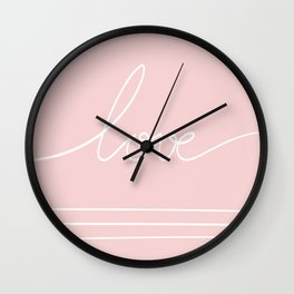 lovepink Wall Clock