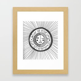 we live by the sun, we feel by the moon Framed Art Print
