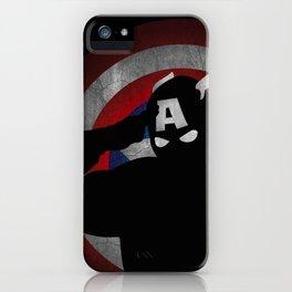 SuperHeroes Shadows : Captain America iPhone Case