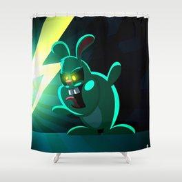 Evil Bunny Shower Curtain