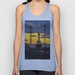 Maryport Lighthouse At Sunset Unisex Tank Top