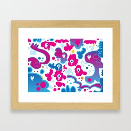 ICU In Pink And Blue Framed Art Print