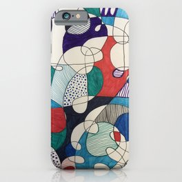 Circus Shapes iPhone Case