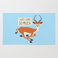 thrones Area & Throw Rugs featuring Prey Tell by David Olenick