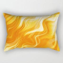 White Hot Fire and Flames Rectangular Pillow
