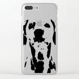 Dalmatian dog watercolour Clear iPhone Case