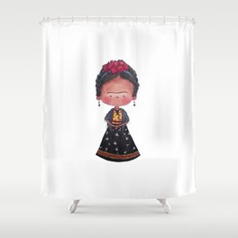Frida - Watercolor Shower Curtain