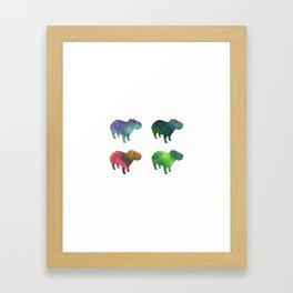 Space Capybaras Framed Art Print