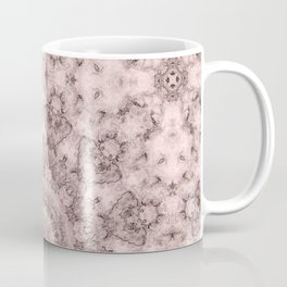 Pink marble kaleidoscope, ornament elements print Coffee Mug