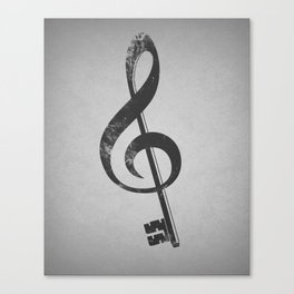 The music is the key. Canvas Print