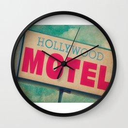 The Hollywood No-Tell Motel Wall Clock