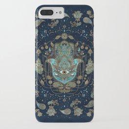 Hamsa Hand -Hand of Fatima Blue Gemstones iPhone Case