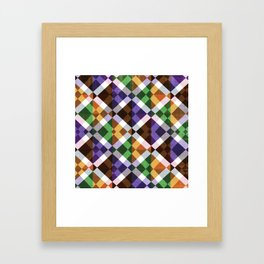 Retro Box Mosaic Small Framed Art Print