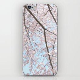Vintage pink tree iPhone Skin