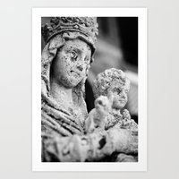 madonna Art Prints featuring Madonna by Andrea Basile