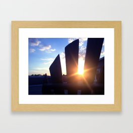 Lawn-chair Sunset - Hollins University Framed Art Print