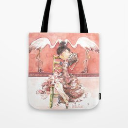 Among Flamingos Tote Bag