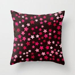 Hot pink starfall Throw Pillow