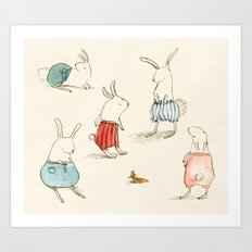If Rabbits Wore Pants Art Print