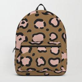 Leopard Blush Gold Backpack