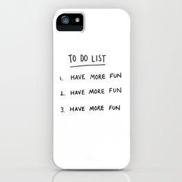 To Do List iPhone Case