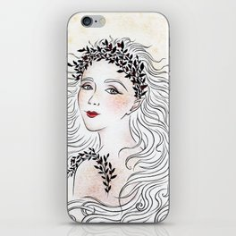Silver and Ivory iPhone Skin