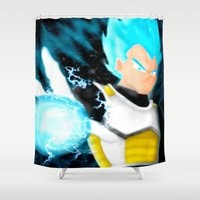 dragonball Shower Curtains featuring SSGSS Vegeta by AmaterasuVG