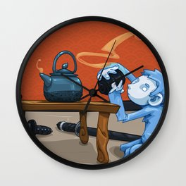 Tea for Two Wall Clock