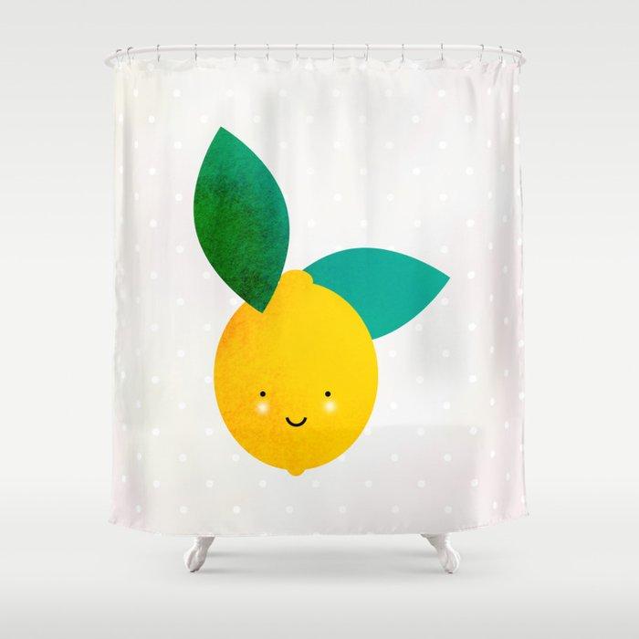 Miss Lemon Shower Curtain