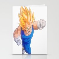 vegeta Stationery Cards featuring Ascended Super Saiyan Vegeta by bmeow