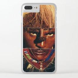 Face Swap II Clear iPhone Case